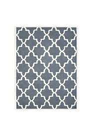 moroccan trellis rug grey dark grey and ivory hand tufted area rug natural wool trellis gray