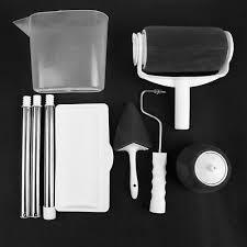 8pcs set multifunctional diy wall paint roller corner decorative brush tool kit