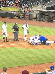 Birmingham Barons P Dylan Cease hits Tennessee Smokies C Ian Rice in the  head with pitch. Rice is out of the game. Very clearly accidental. :  MinorLeagueBaseball