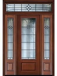 exterior doors with sidelights 1 panel 3 4 lite cherry walnut door w 36 entry door