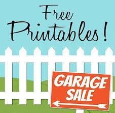 Free Printables Garage Sale Signs Price Tags Garage