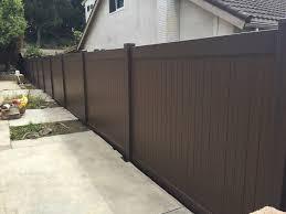 brown vinyl picket fence. Brown Vinyl Fencing | Bob\u0027s Fence Of Ventura And Santa Barbara, Picket