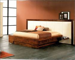 Leon Bedroom Furniture Diy Dark Brown Stained Wooden King Bed Frame With Storage And