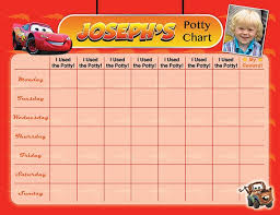 Cars Lightning Mcqueen Potty Chart Potty Training Chart Potty Reward Chart Potty Sticker Chart Customized Personalized Printable
