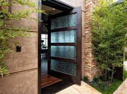 glass front door ideas freshome com a custom glass pattern adds privacy