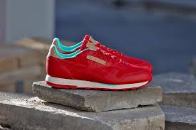 reebok red. reebok classic leather \ red