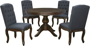 ashley furniture trudell round dining set with upholstered chairs