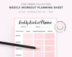 Workout Schedule Etsy