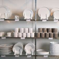 Download Store display of dishes. stock image. Image of image, prices -  2769909