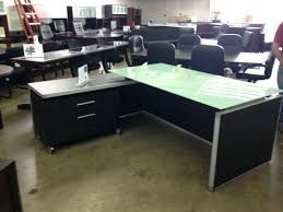 office desk with filing cabinet. Glass Top Shaped Office Desk File Cabinet Wheels L Depot Max With Filing