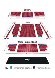 Rock Of Ages Theater Seating Chart Seating Plan Grimsby Auditorium
