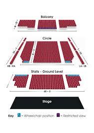 Seating Plan Grimsby Auditorium