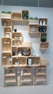 20 Excellent Pallet Furniture Projects   101 Pallets - Part 2 - Pallet Crate  Shelves Unit