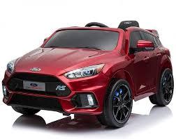 <b>Детский электромобиль Ford</b> Focus RS Wine Red 12V 2.4G - F777 ...