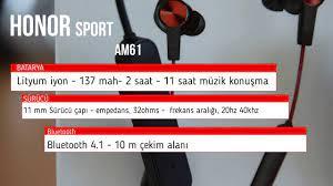 HONOR AM61 Sport Lite Bluetooth Kulaklık İncelemesi - YouTube