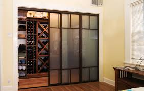 sliding glass doors smoked frosted wine closet
