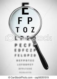 Magnifying Glass And An Eye Chart