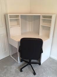 ikea micke corner computer desk white