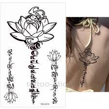 временная татуировка орнамент лотос 33982