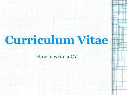 Resume Powerpoint Presentation Presentation Cv