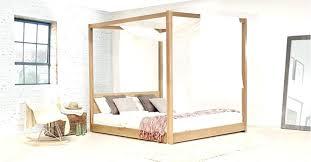Four Post Bed Four Post Bed Frame Low Four Poster B On Solid Wood ...