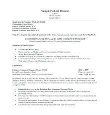 Federal Resume Samples Resume Samples Wonderful Federal Resume ...