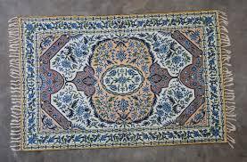 silk hand hooked rug 4 x6