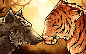 1024 x 683 jpeg 214 кб. How To Draw A Wolf And Tiger Step By Step Drawing Guide By Dawn Dragoart Com