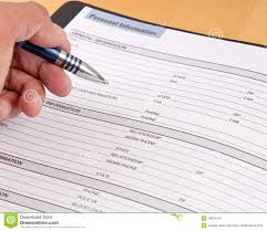 Personal Information Sheets Personal Information Reference Sheet Stock Photo Image Of Apply