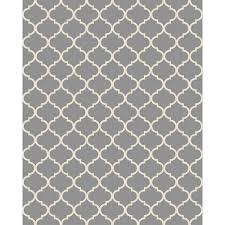 ruggable 8 ft x 10 ft moroccan trellis light grey area rug