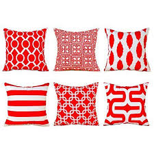 soft throw pillows. Simple Throw Durable Soft Throw Pillows Cotton Square Decorative Cushion Covers 18x18  Set 6 Red  EBay And R