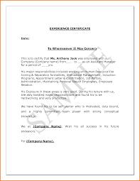 Experience Letter Format Sales Ameliasdesalto Com