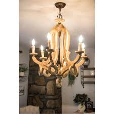 wood light candle farmhouse 6 light candle distressed wood chandelier