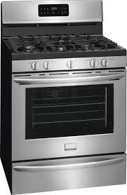frigidaire gallery series fggf3035rf stainless steel side view