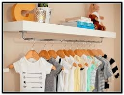 unique shelf with hanging rod of throughout