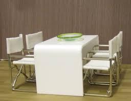 elf furniture. white acrylic minimalist dining table elf miniatures elf furniture