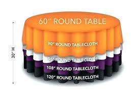 what size tablecloth for 60 round tablecloths idea whole of rectangular ivory that a inch diameter