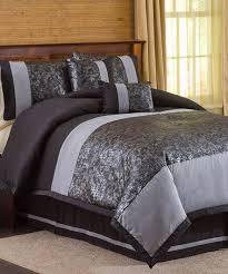 silver bedding black comforter sets