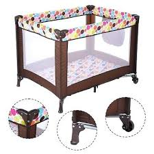 toddler play yard baby crib bassinet travel portable bed playpen infant toddler childrens factory play yard toddler play yard