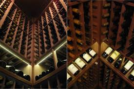 wine lighting. led wine rack display lighting by kessick cellar other storage systems g