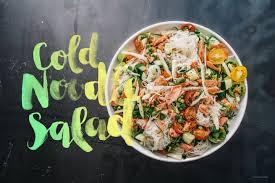 summery salmon cold noodle salad iamafood