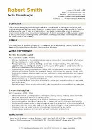 Cosmetology Sample Resume Cosmetologist Resume Samples Qwikresume
