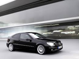 mercedes coupe 2008. 2008 mercedes-benz clc sports coupe - black front and side speed 1600x1200 wallpaper mercedes e