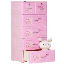 Tủ nhựa Duy Tân màu hồng