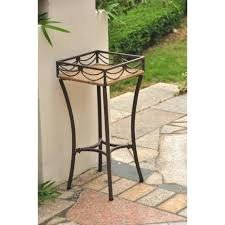 tall outdoor plant stands rattan wood plant stands regarding wicker tall outdoor plant stand gallery 5