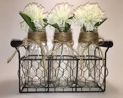 Decorative Milk Bottles 100 Small Milk Bottle Vase Set Jute Wrapped Necks in a Chicken Wire 76