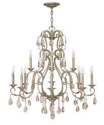 carlton 12 light chandelier in silver leaf nv1701
