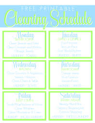 cleaning schedule printable free printable cleaning schedule get the house clean freak clean