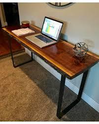 Modern desk office Minimalist Your Custom Desklive Edge Deskblack Walnut Deskmodern Deskoffice Pinterest Cant Miss Deals On Your Custom Desklive Edge Deskblack Walnut