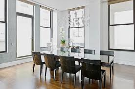 unique decorate a room with white walls elegant dining room with black leather chairs